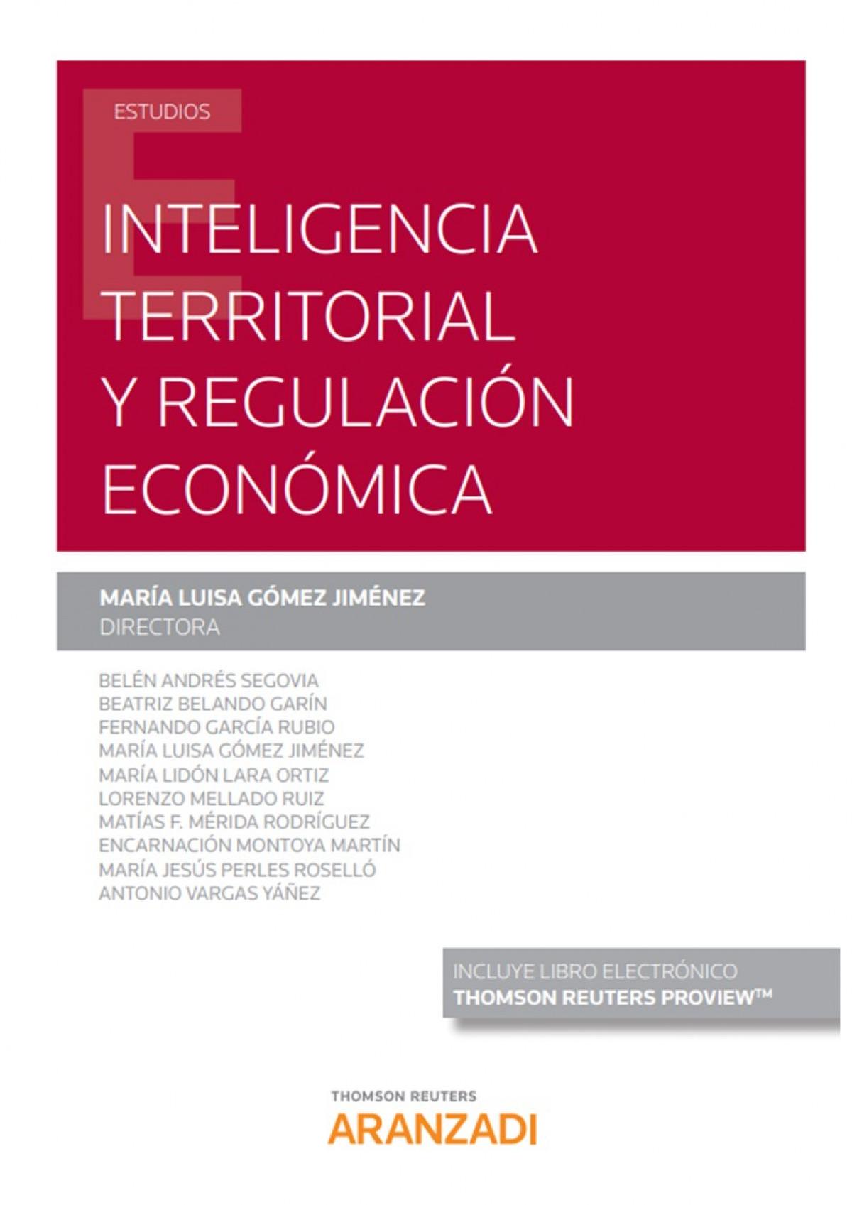 Inteligencia Territorial y Regulación Económica (Papel + e-book) 9788413469317