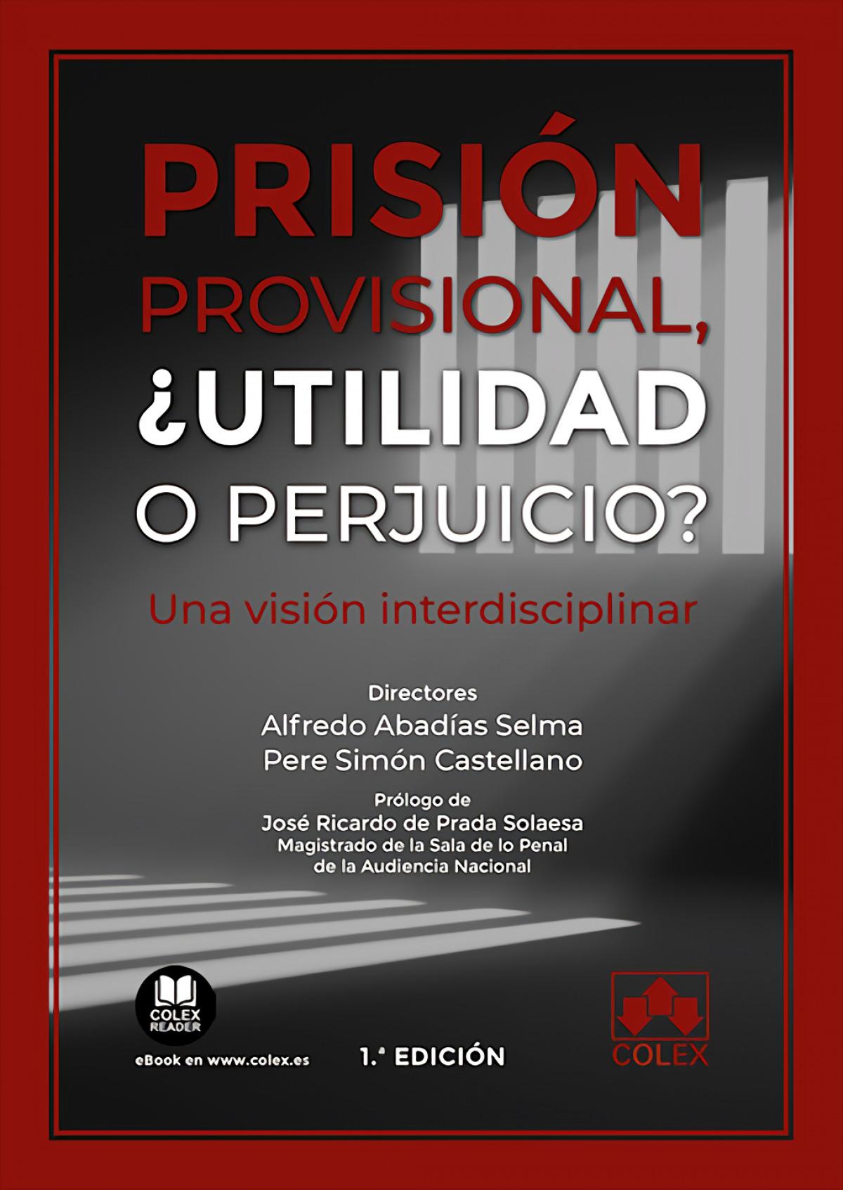 Prisión provisional, ¿utilidad o perjuicio? 9788413591070