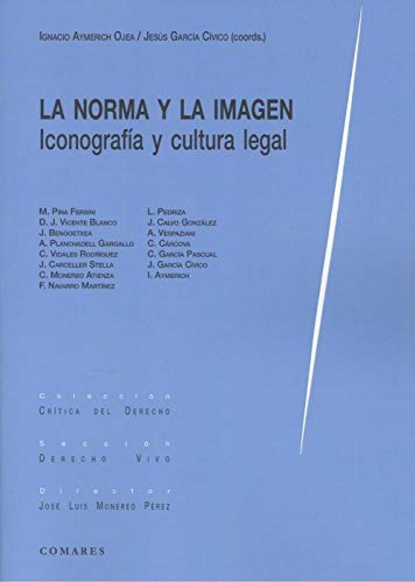 La norma y la imagen. Iconograf¡a y cultura legal 9788413690469