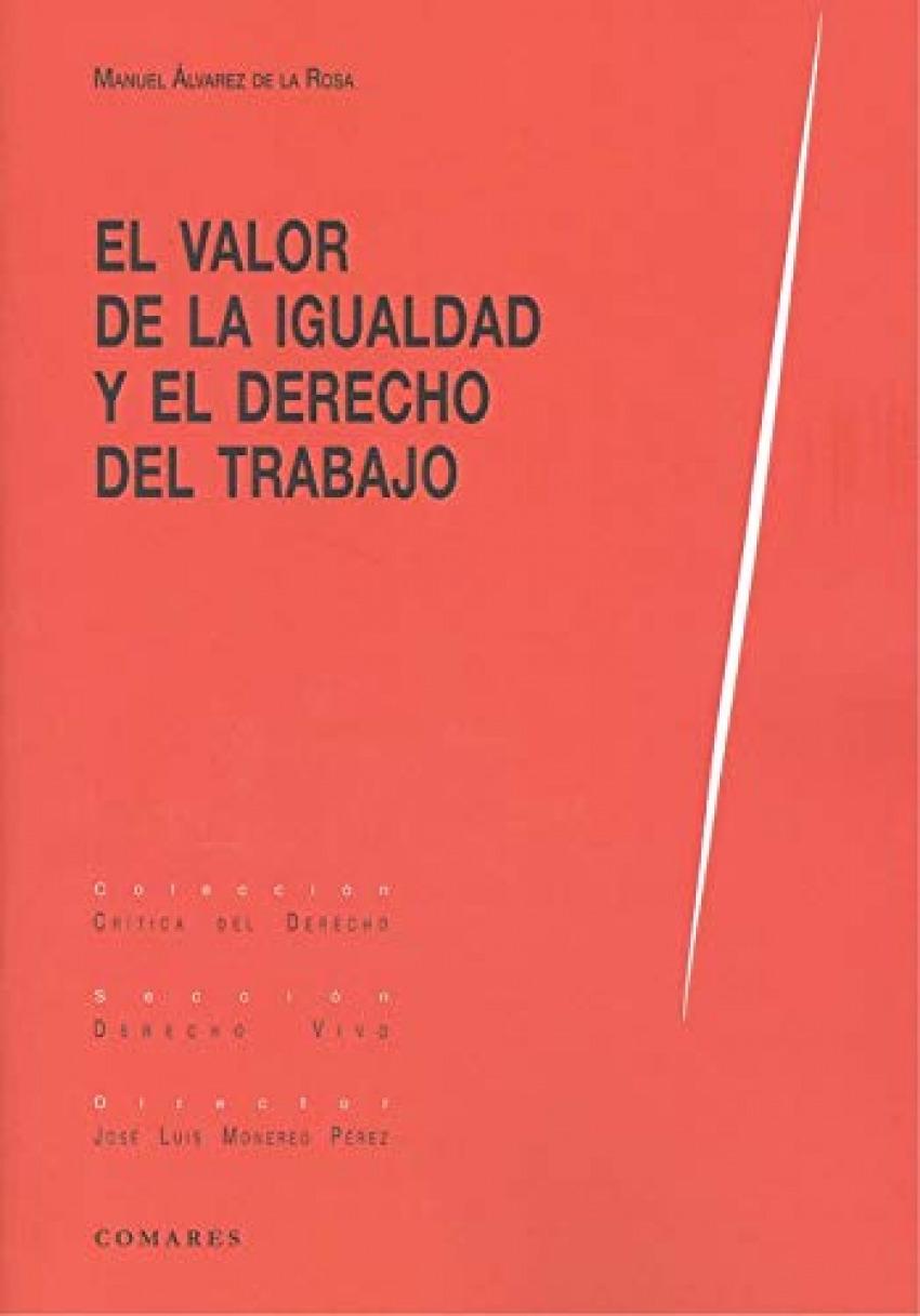 VALOR DE LA IGUALDAD Y EL DERECHO AL TRABAJO 9788413690490