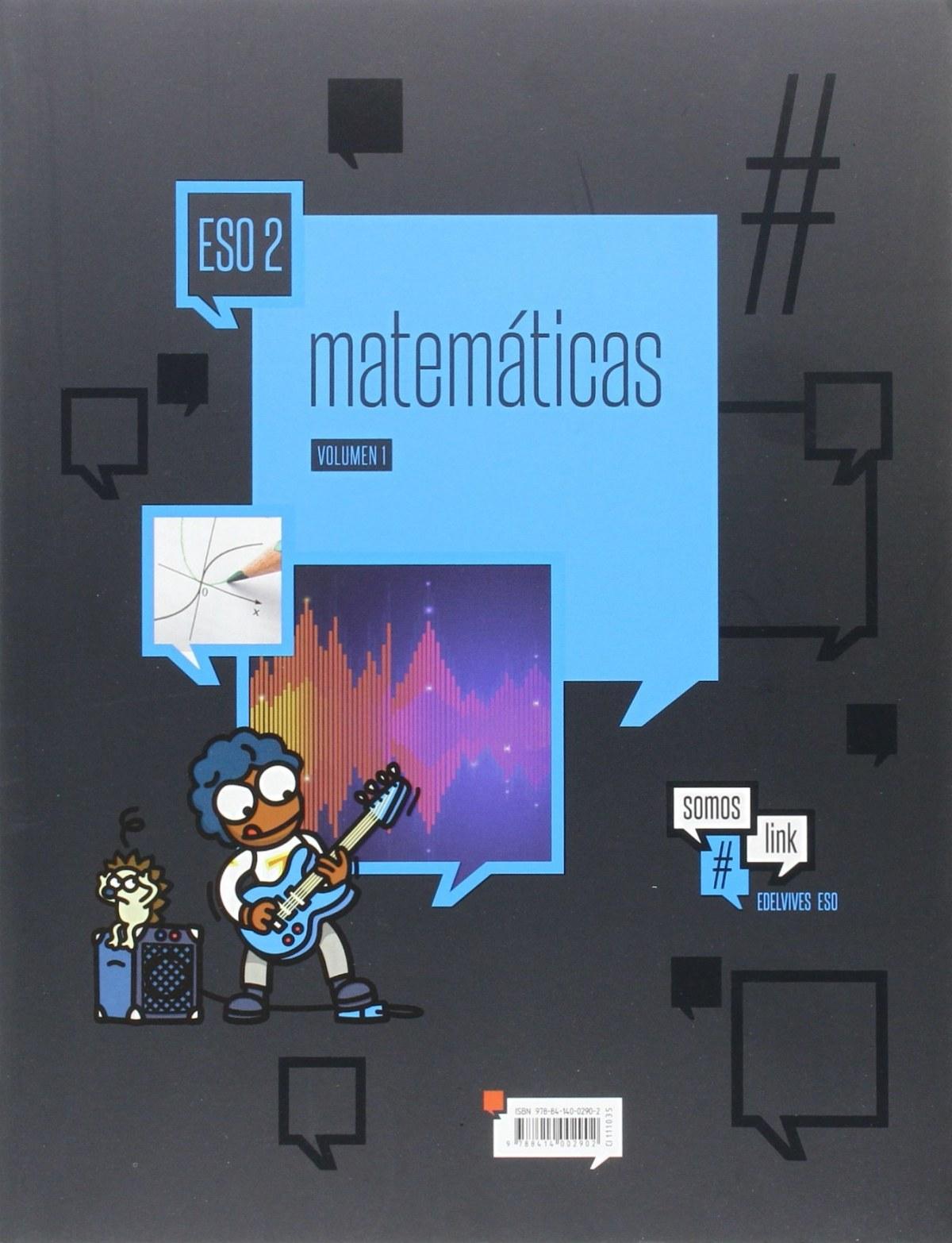 Matemáticas 2o.ESO. Somoslink 9788414002902