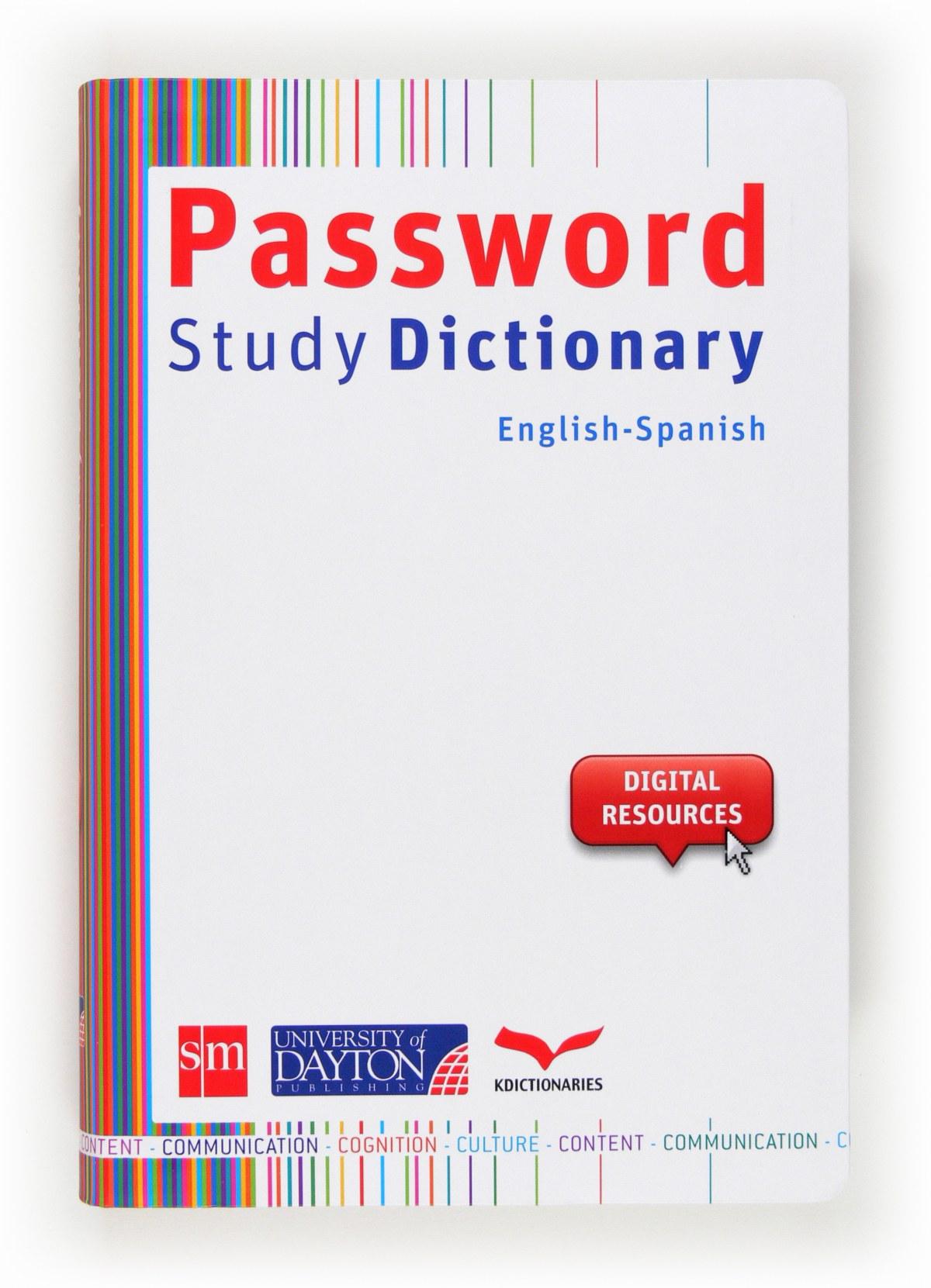 Password study dictionary english-spanish 9788415478676
