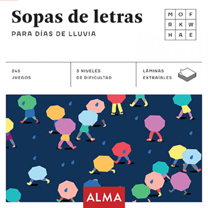 SOPA DE LETRAS PARA DIAS DE LLUVIA 9788415618966