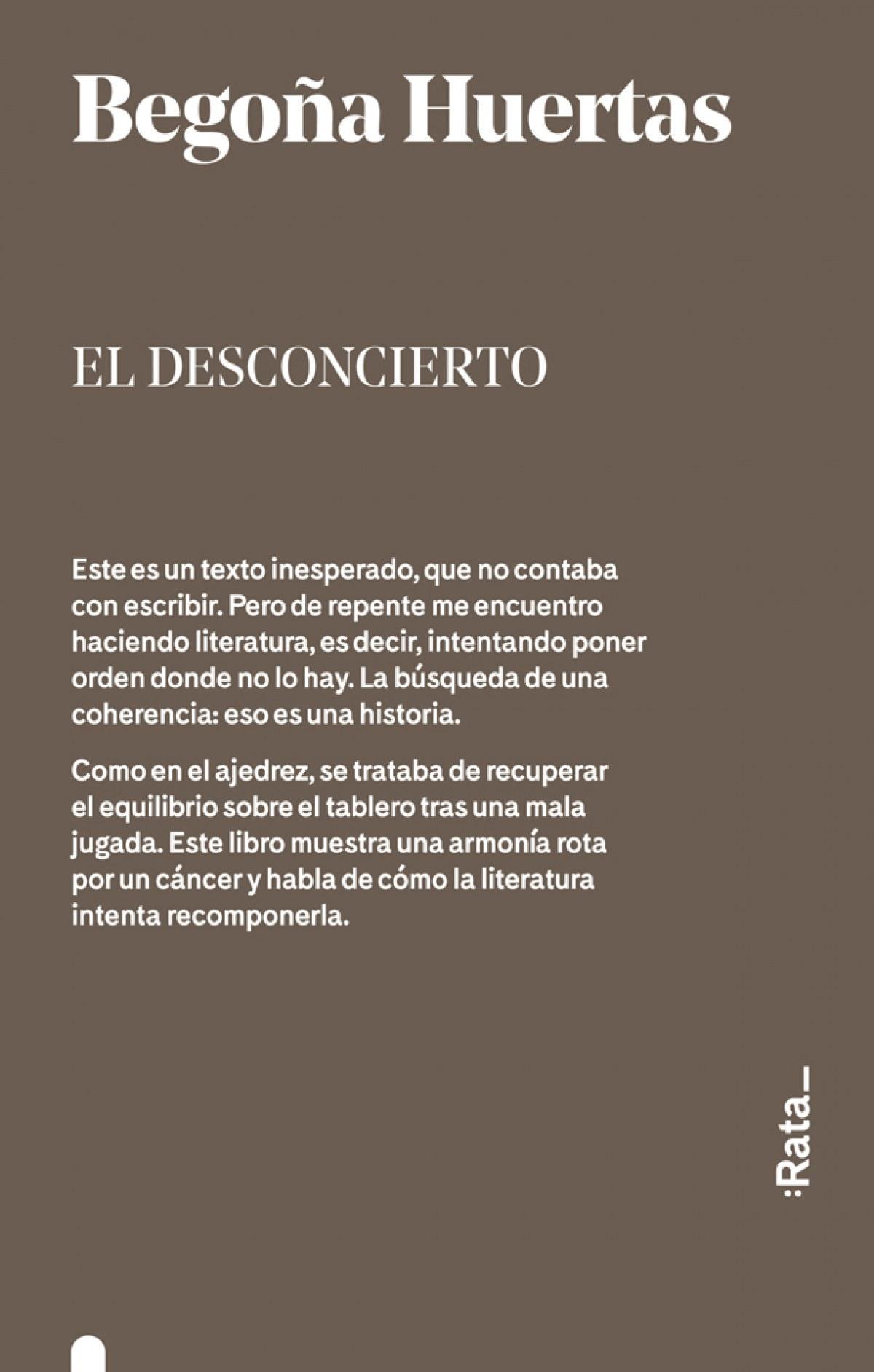 EL DESCONCIERTO 9788416738311