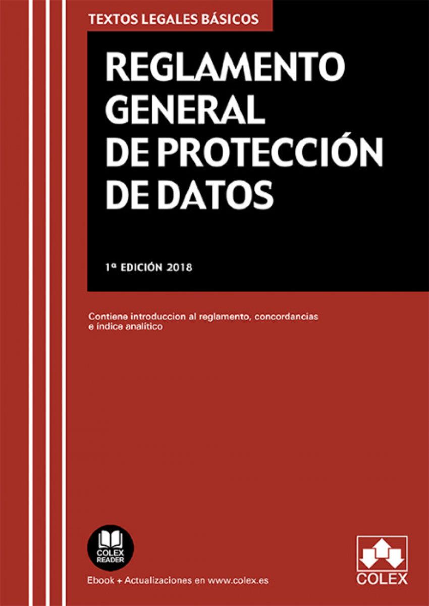 REGLAMENTO GENERAL DE PROTECCIÓN DE DATOS 9788417135799