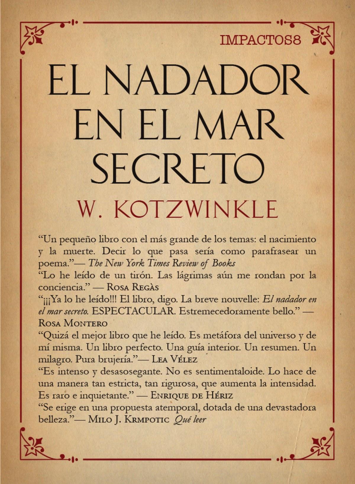 EL NADADOR EN EL MAR SECRETO 9788417181055