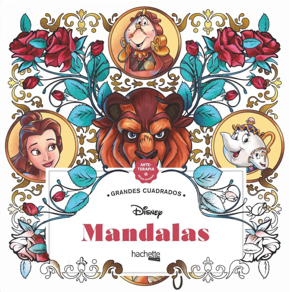Grandes cuadrados. Mandalas Disney 9788418182150