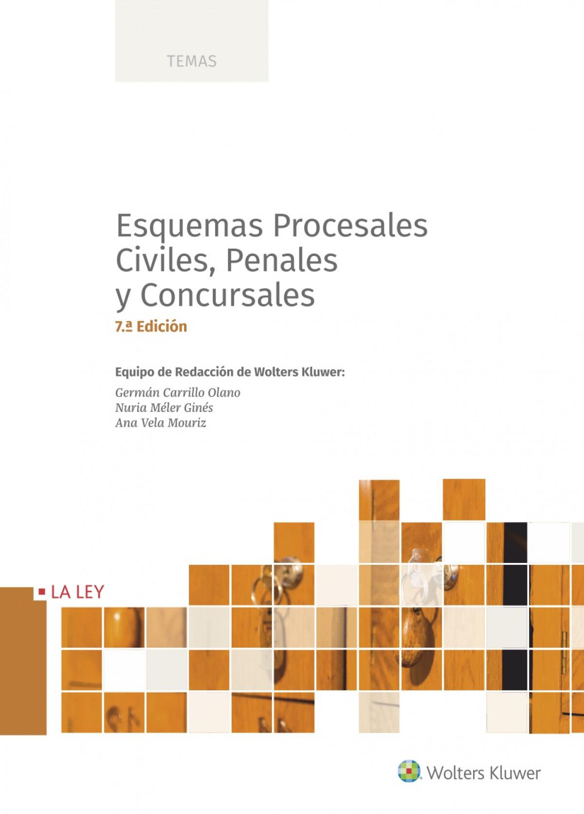 Esquemas procesales civiles, penales y concursales (7.a. edición) 9788418349768
