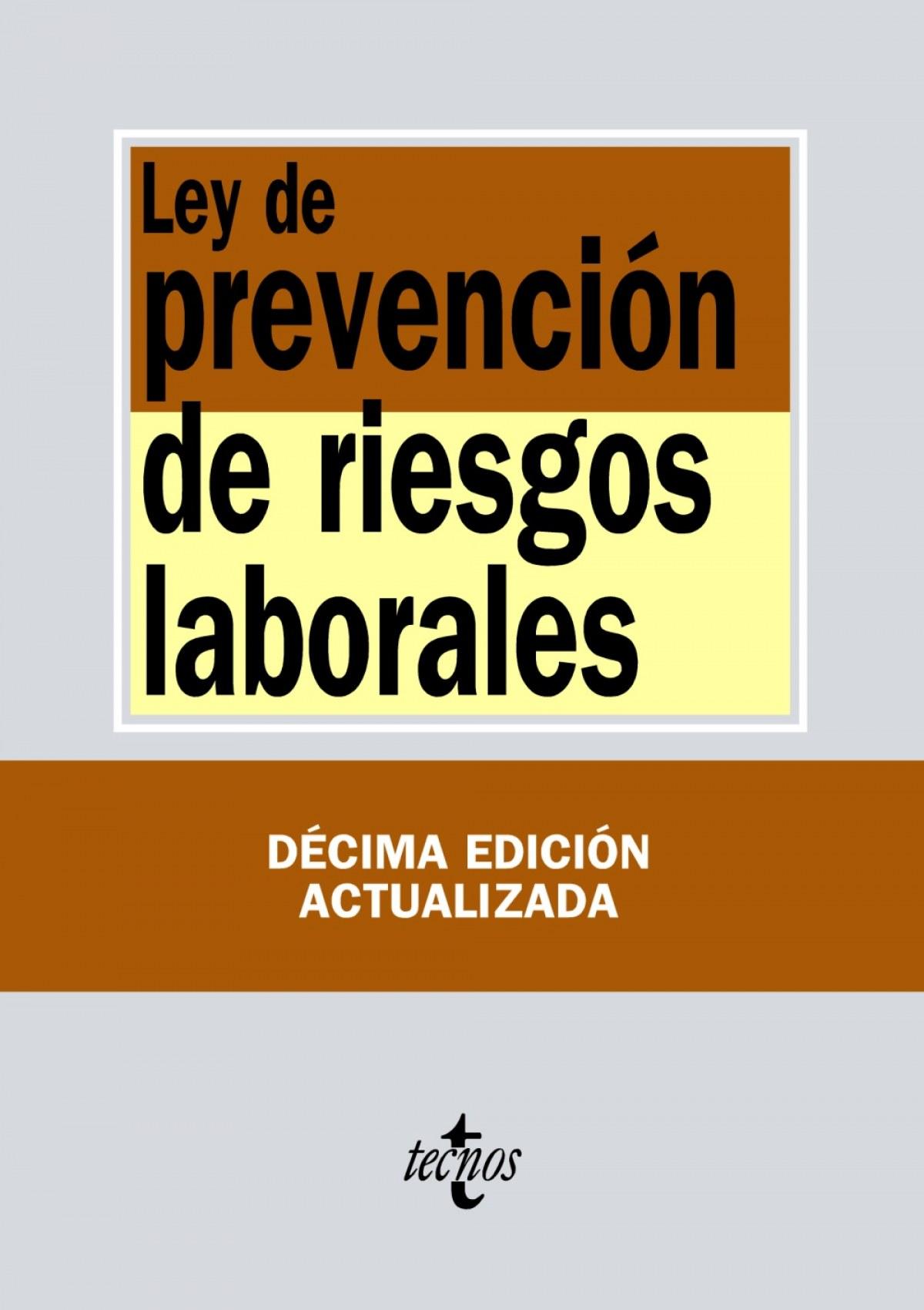 LEY DE PREVENCIÓN DE RIESGOS LABORALES 9788430973729