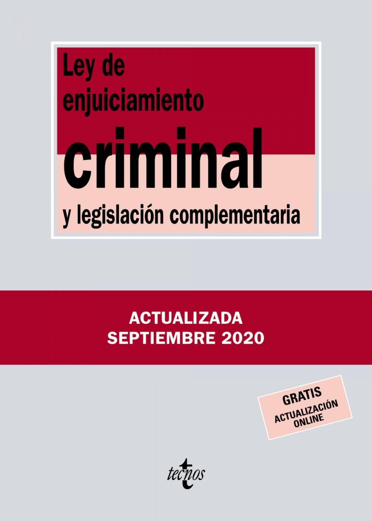 Ley de Enjuiciamiento Criminal y legislación complementaria 9788430980093