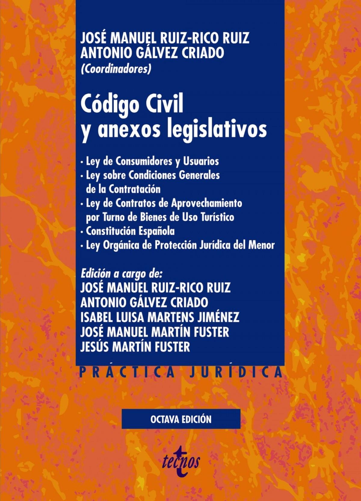 Código Civil y anexos legislativos 9788430980277