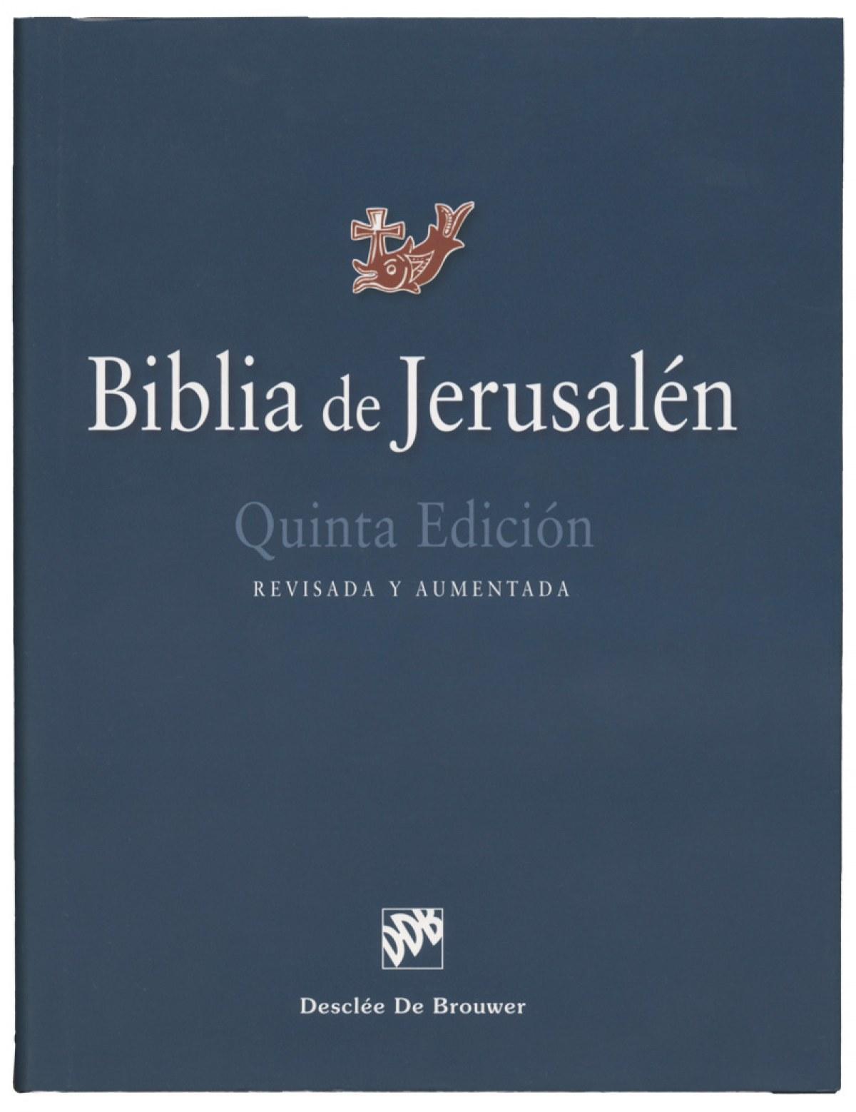 BIBLIA JERUSALÉN 9788433030474