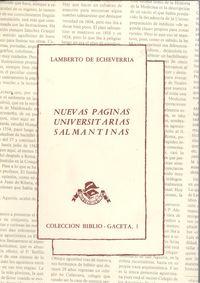 Nuevas páginas universitarias salmantinas 9788439895183