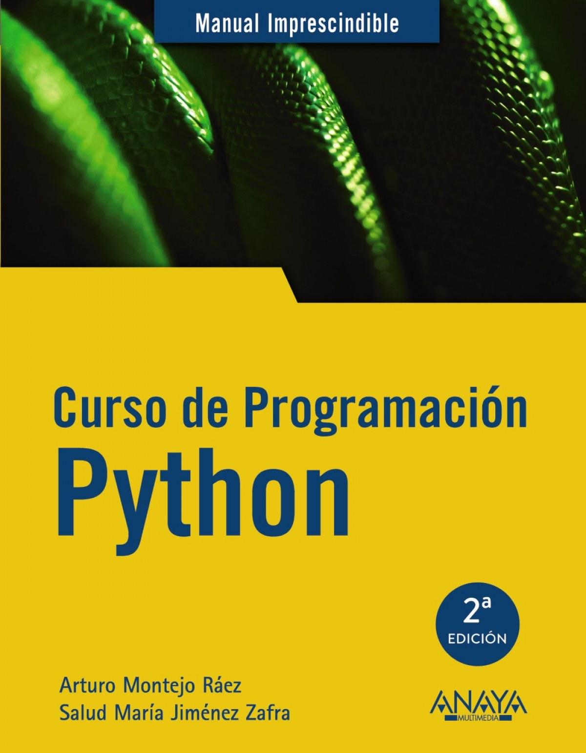 CURSO DE PROGRAMACIÓN PYTHON 9788441541160