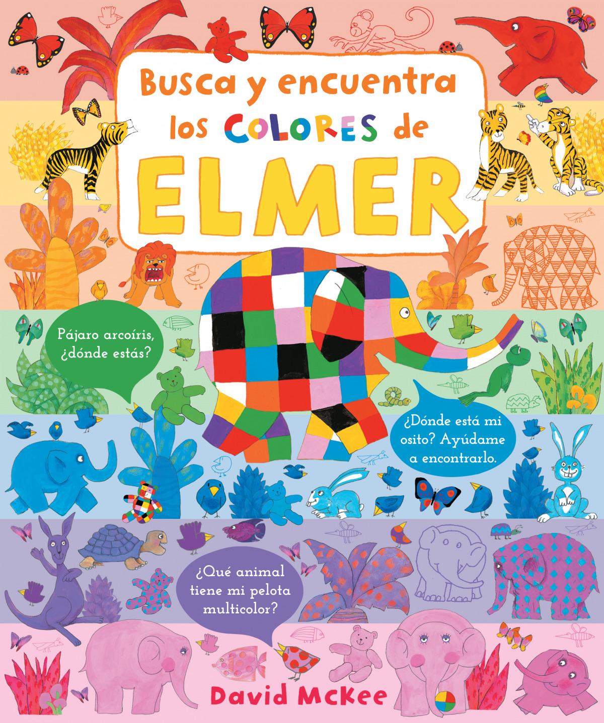 Busca y encuentra los colores de Elmer (Elmer. Pequeñas manitas) 9788448857332