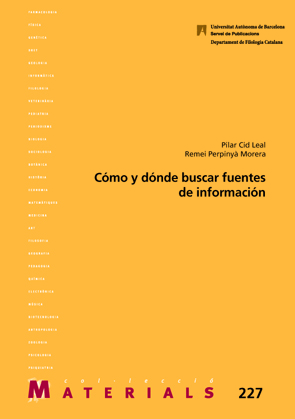 Cómo y donde buscar fuentes de información 9788449038969