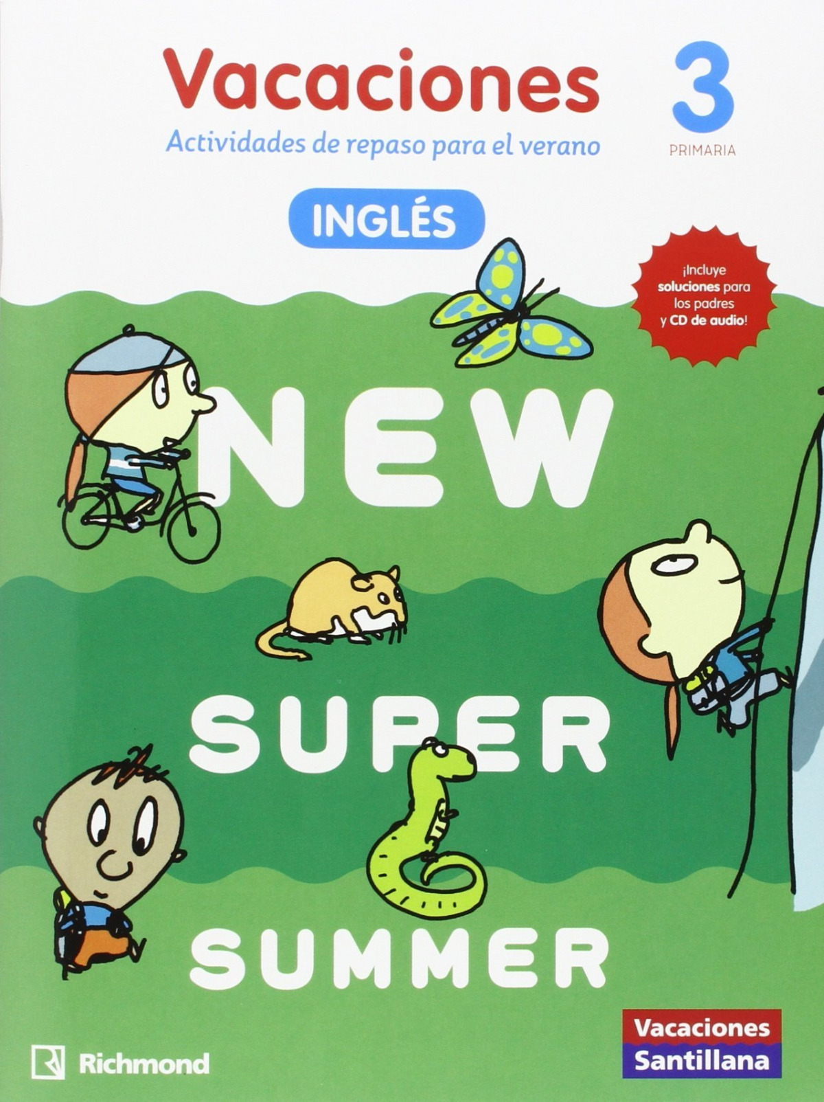 NEW SUPER SUMMER 3o. PRIMARIA BOOK AUDIO 9788466823005