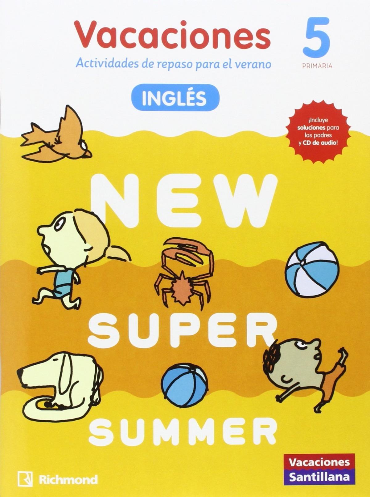 NEW SUPER SUMMER 5o. PRIMARIA BOOK AUDIO 9788466823029
