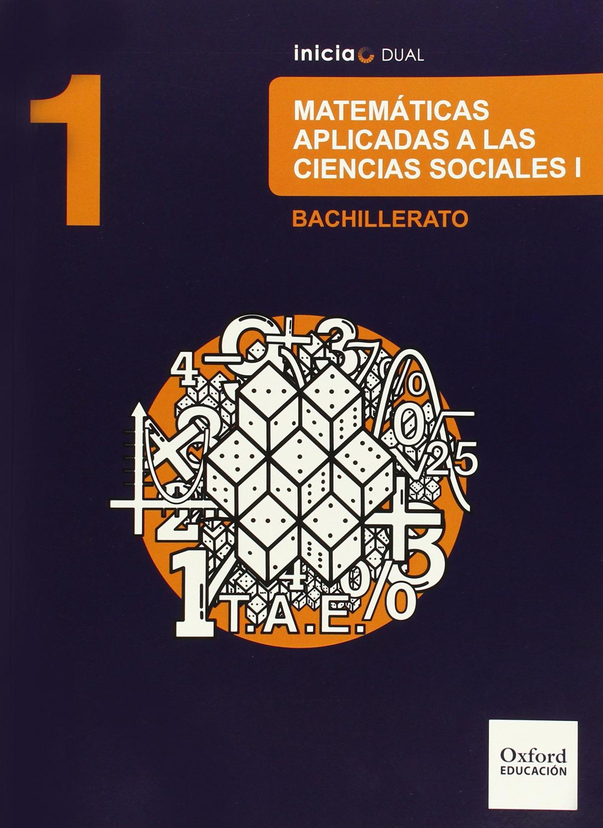 Matemáticas Ciencias Sociales 1.o. Bachillerato Inicia Dual. 9788467394436