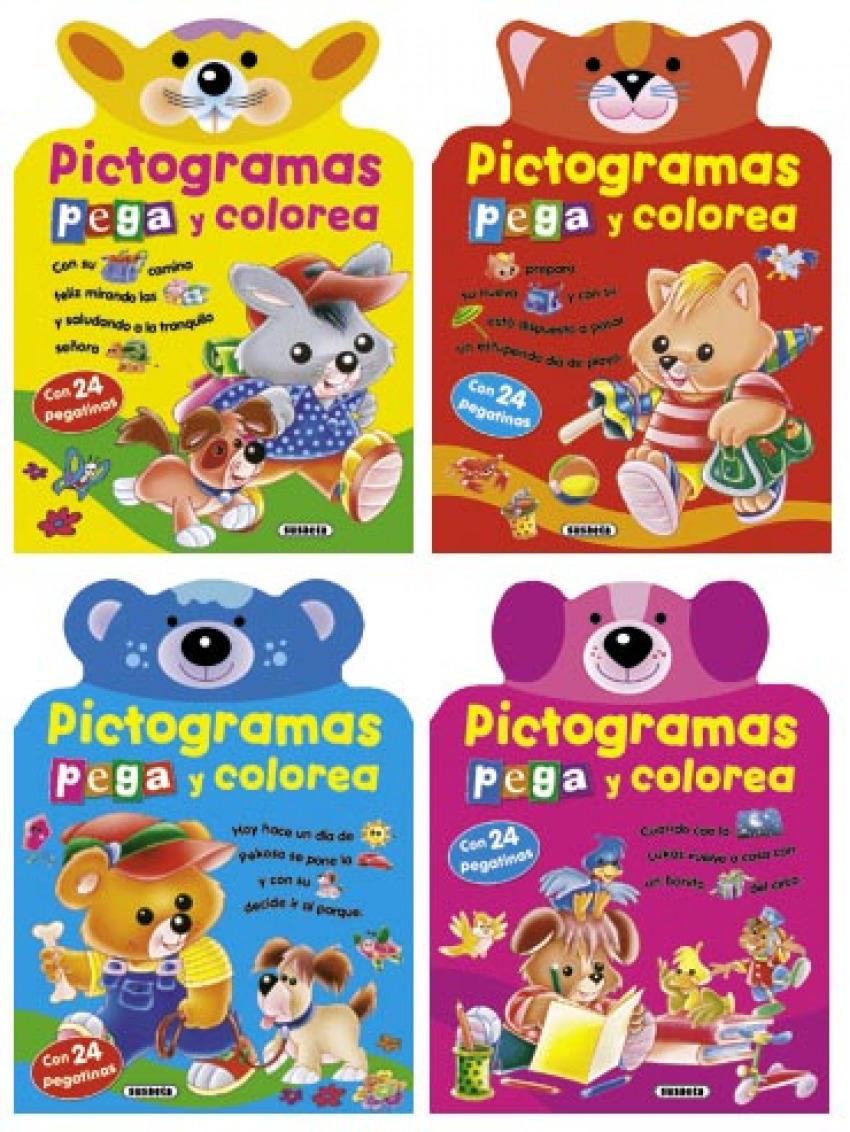 Pictogramas pega y colorea 9788467707090