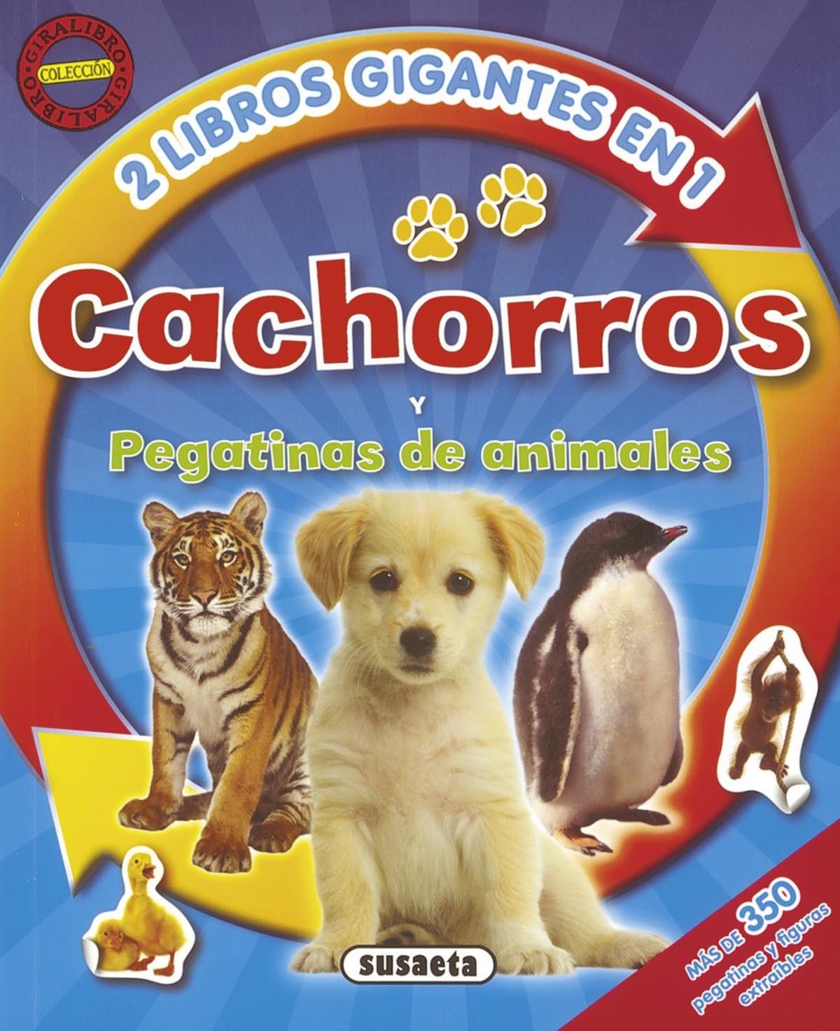 Cachorros y pegatinas de animales (2 libros en 1) 9788467715934