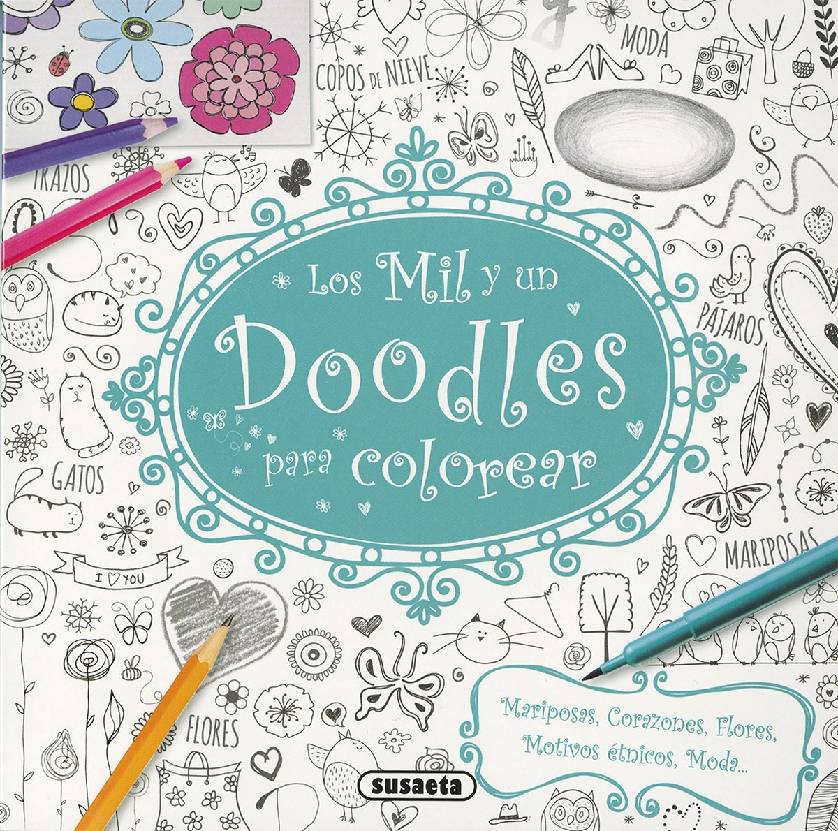 Los mil y un doodles para colorear 9788467749397