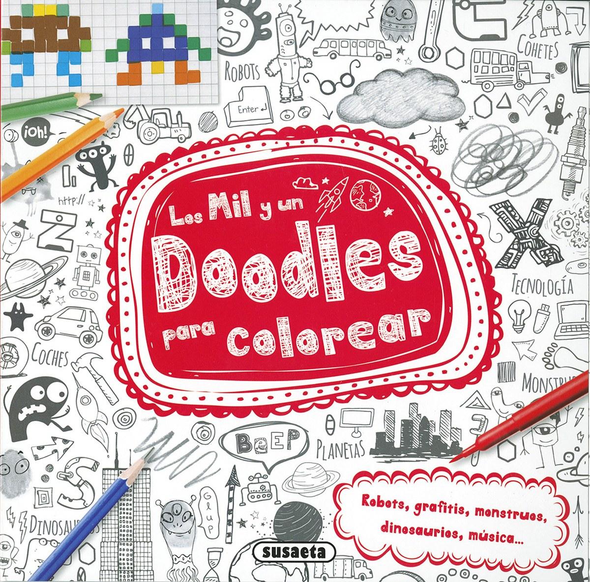 Los mil y un doodles para colorear 9788467749403