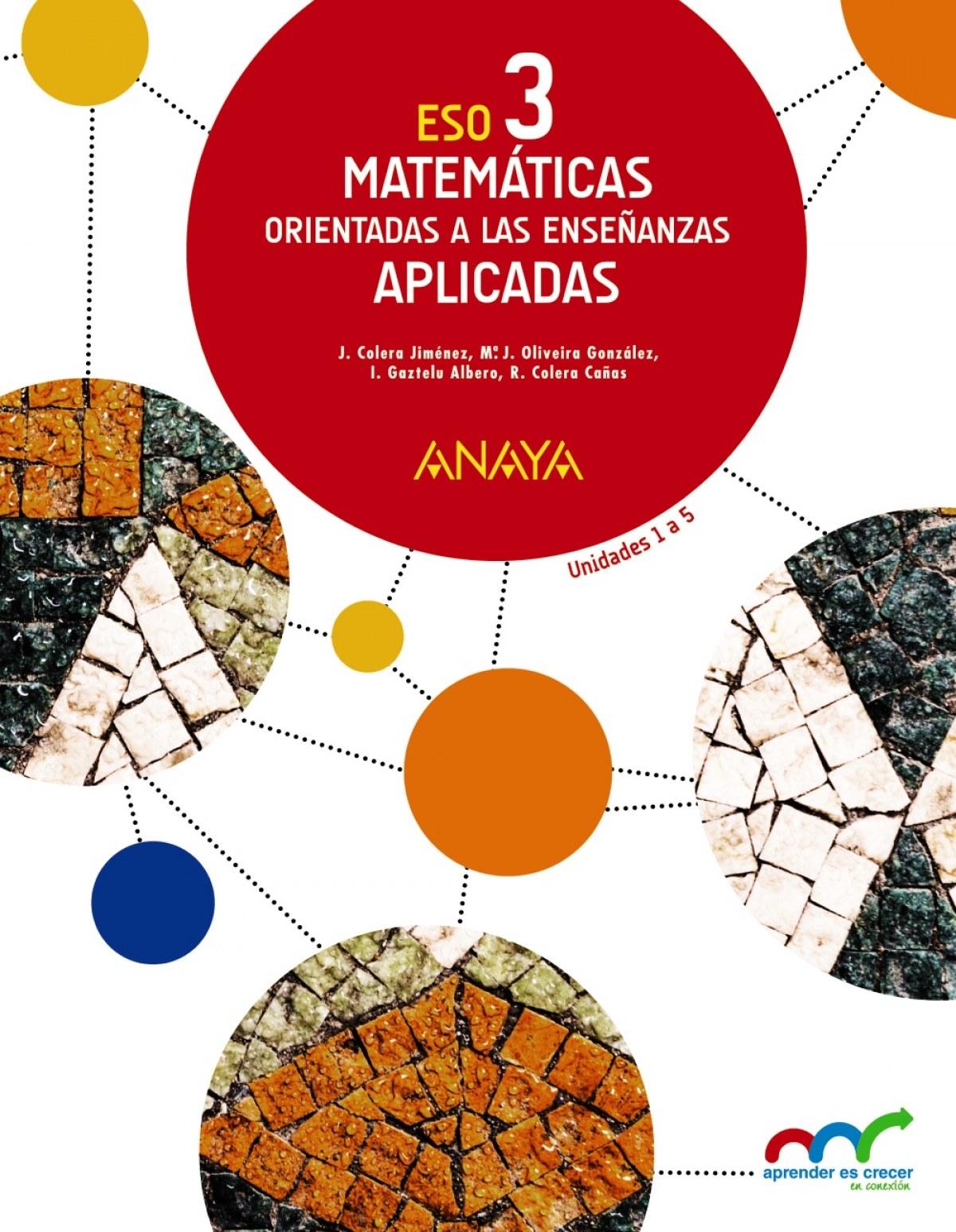 Matemáticas orientadas a las Enseñanzas Aplicadas 3. 9788467852165