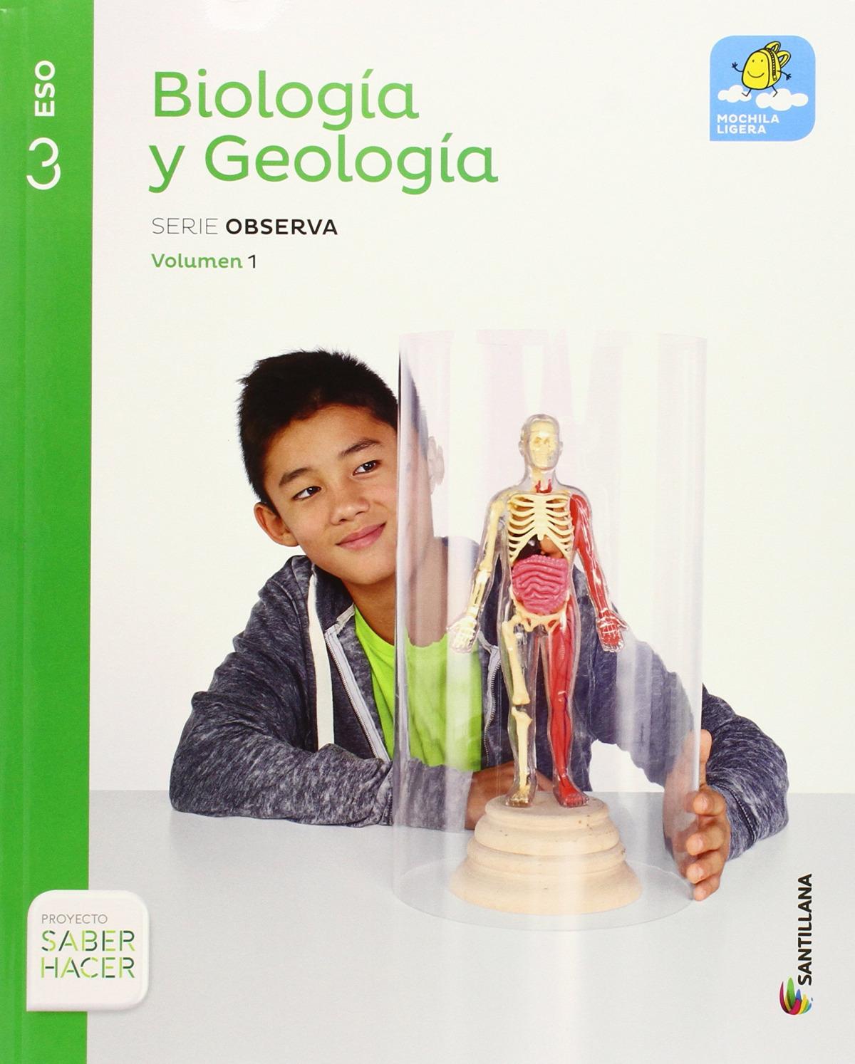 BIOLOGIA Y GEOLOGIA MOCHILA LIGERA 3 SECUNDARIA 9788468020471