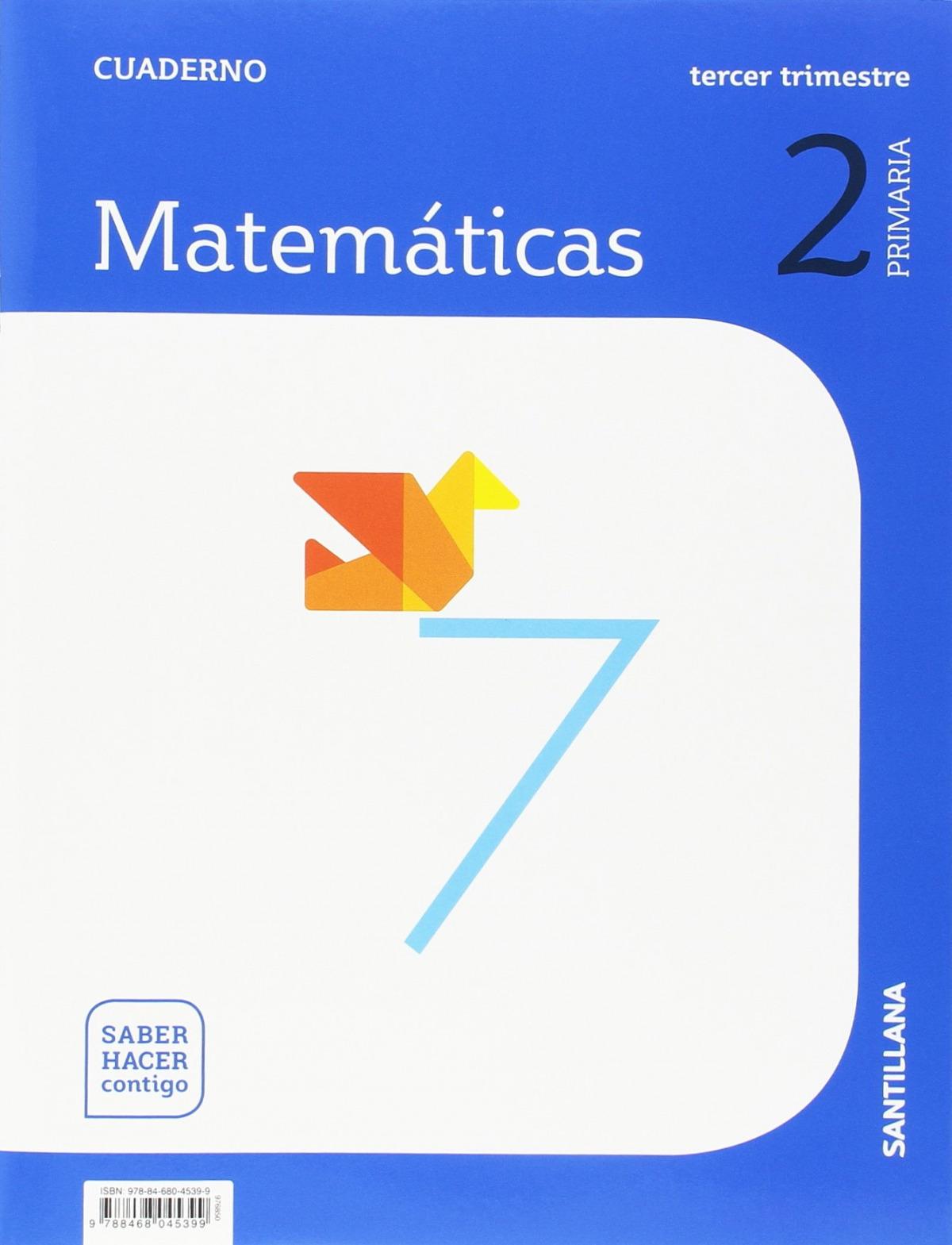 CUADERNO MATEMÁTICAS 3-2o.PRIMARIA. SABER HACER CONTIGO 9788468045399