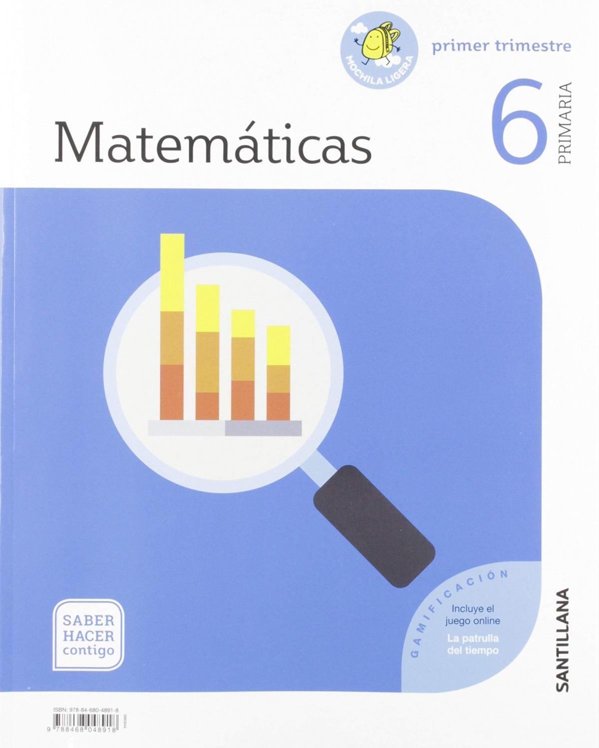 MATEMATICAS 6 PRIMARIA SABER HACER CONTIGO ED19 9788468048918