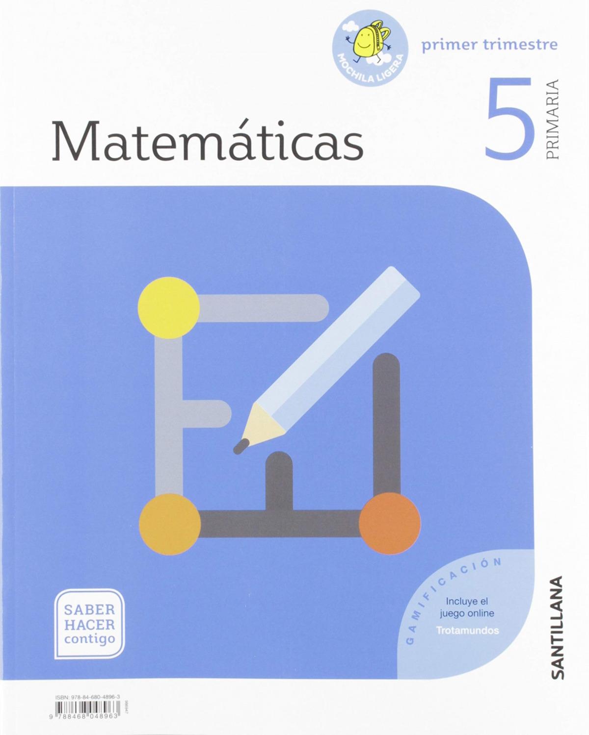 MATEMATICAS 5 PRIMARIA SABER HACER CONTIGO ED19 9788468048963