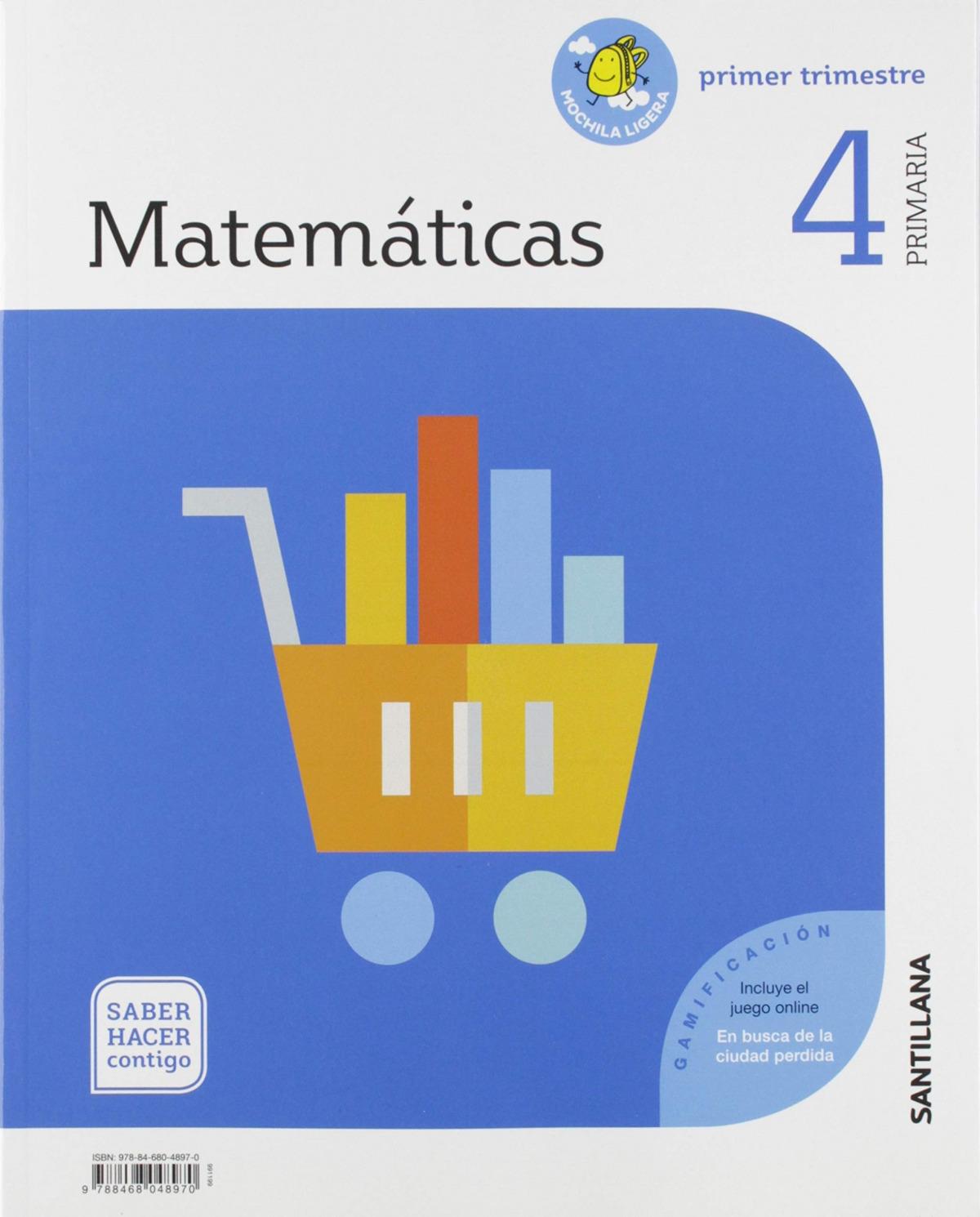 MATEMATICAS 4 PRIMARIA SABER HACER CONTIGO ED19 9788468048970