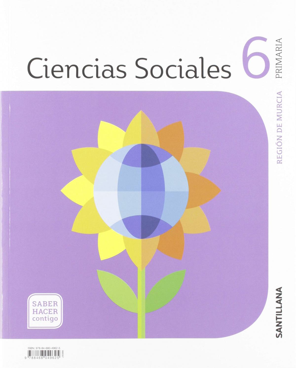 CIENCIAS SOCIALES MURCIA 6 PRIMARIASABER HACER CONTIGO ED19 9788468049625