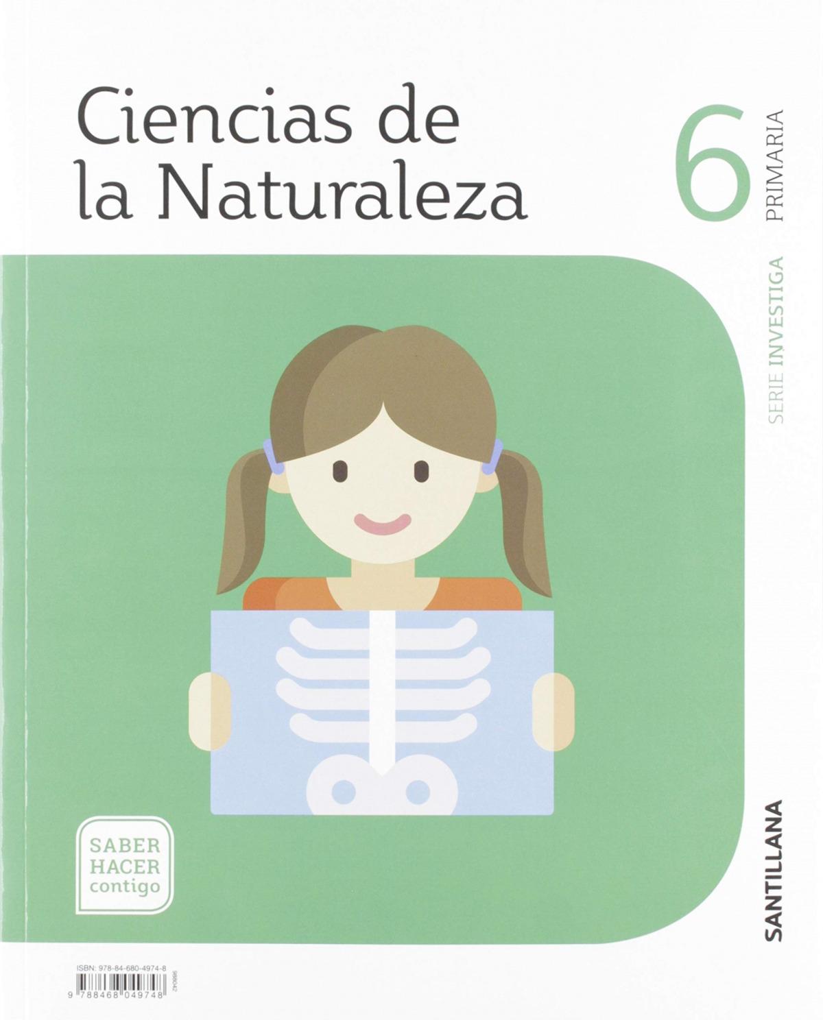 CIENCIAS DE LA NATURALEZA 6 PRIMARIA SERIE INVESTIGA SABER HACER CONTIGO 9788468049748