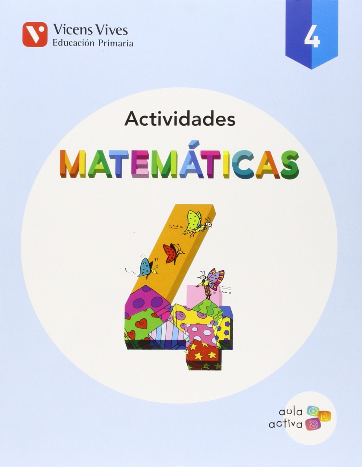 Cuaderno matemáticas 4o.primaria. Aula activa. Trimestral 9788468229669
