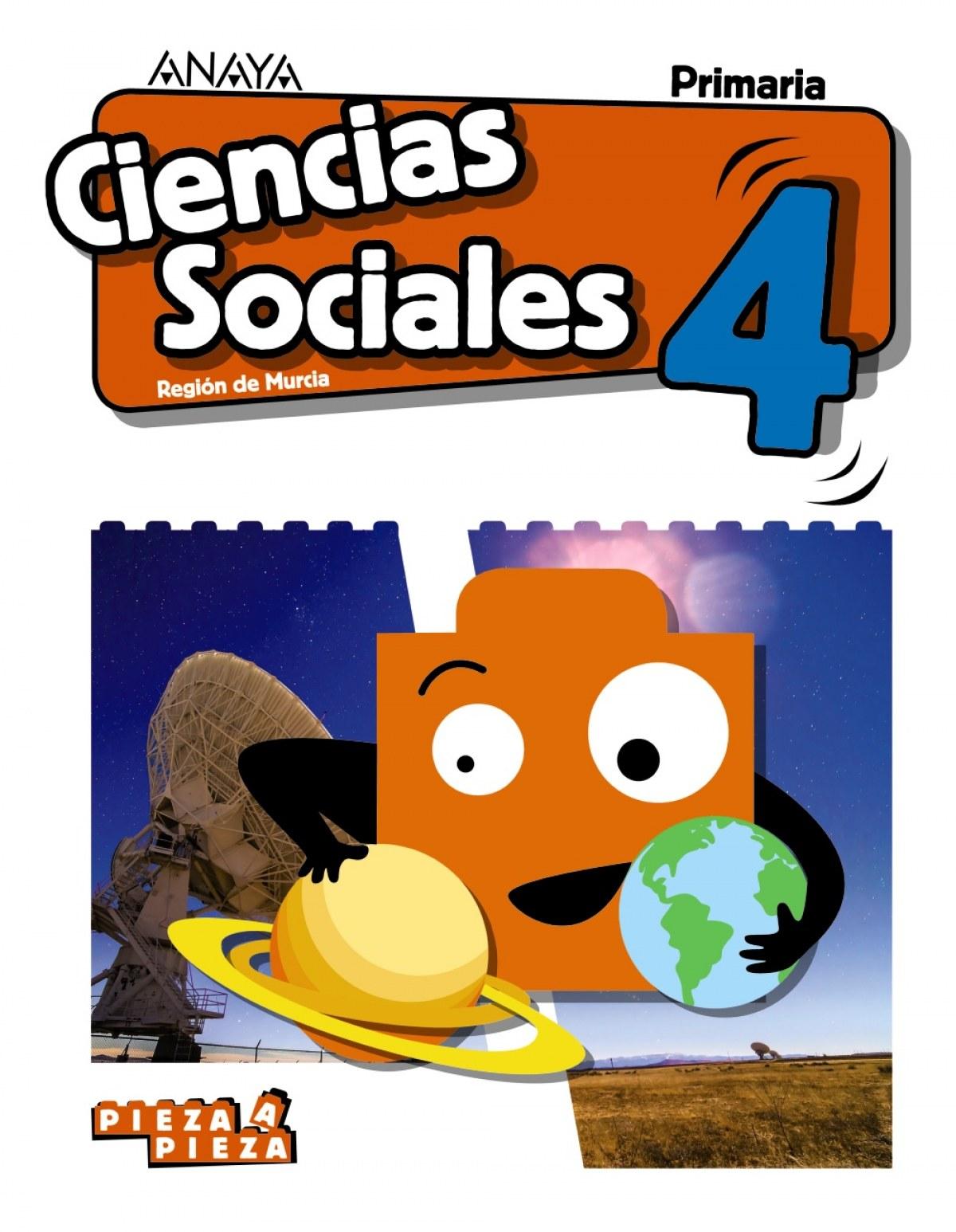 CIENCIAS SOCIALES 4o.PRIMARIA PIEZA A PIEZA MURCIA 9788469852514