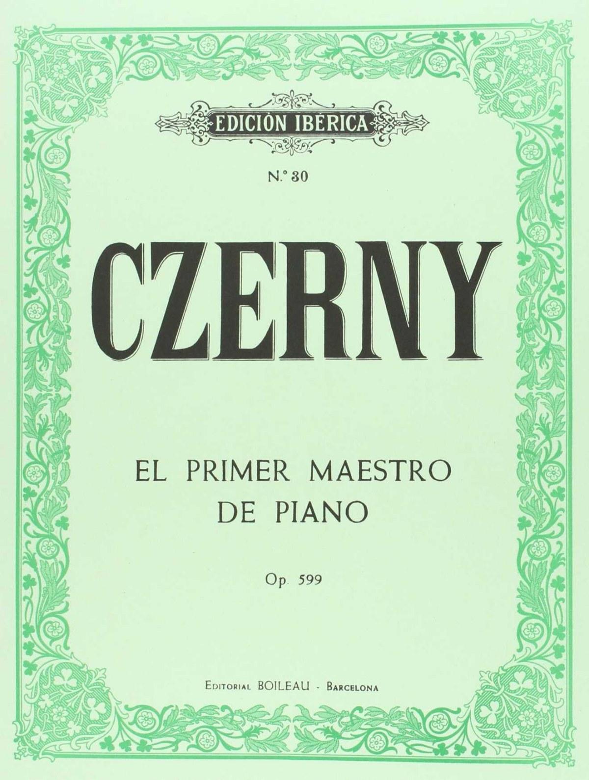El primer maestro piano op.599, op.100 9788480203357