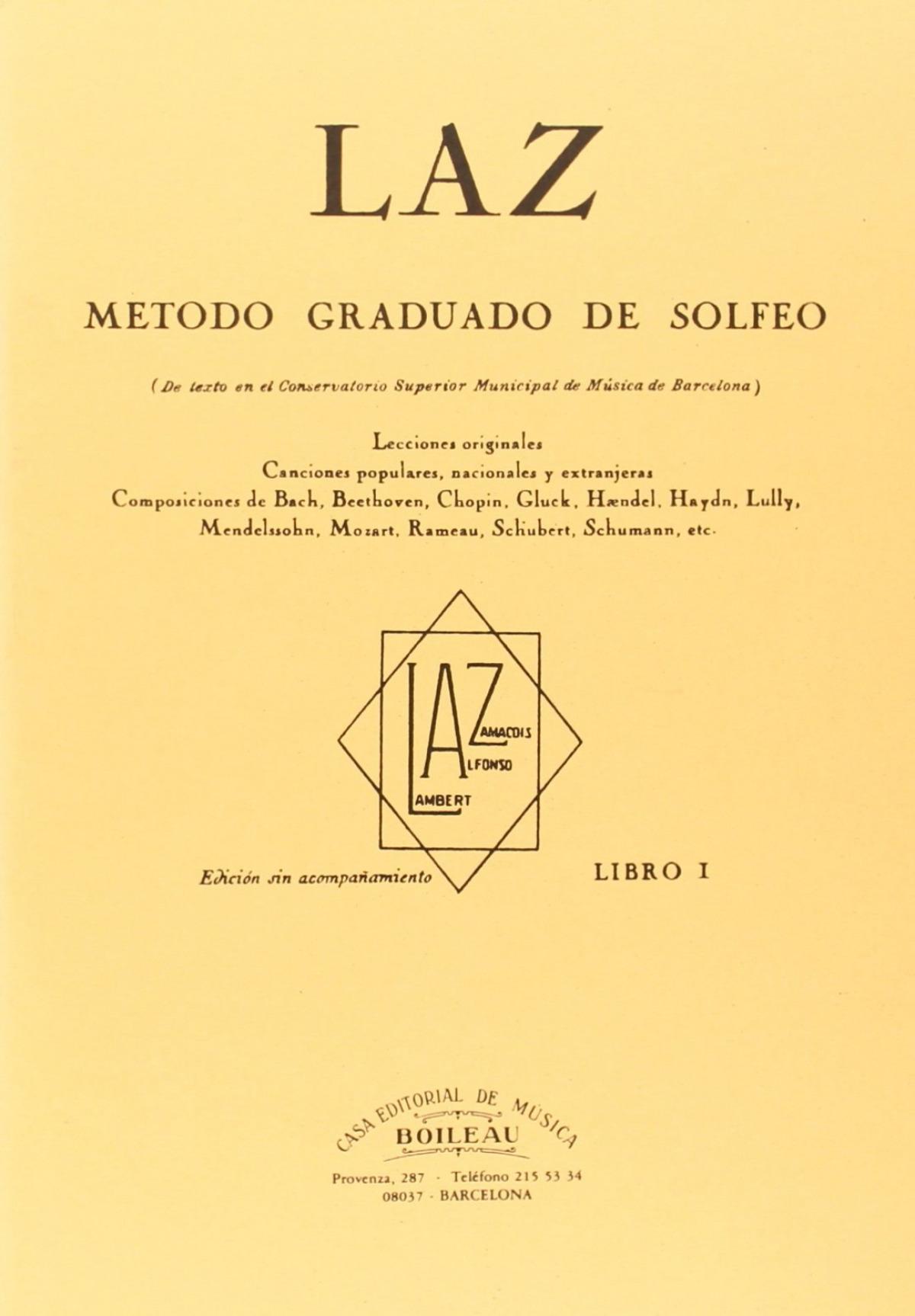 Laz:método de solfeo 9788480207096