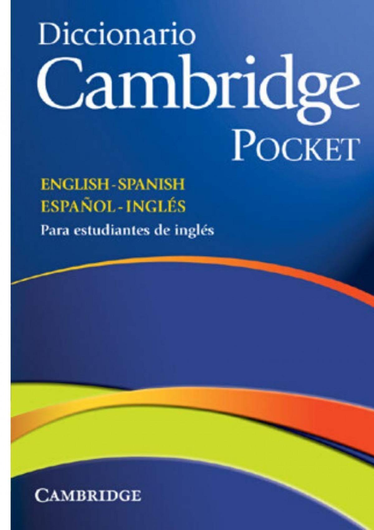 Diccionario Cambridge pocket English-Spanish/ español-inglés 9788483234785