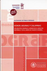 HONOR INJURIAS Y CALUMNIAS (+EBOOK) 9788484489177