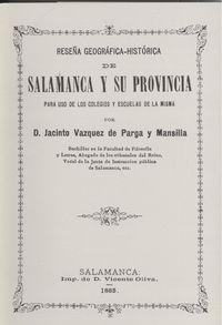 Reseña geográfica-histórica salamanca y provincia 9788485664566