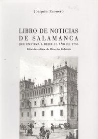 libro de noticias de salamanca 9788485664955