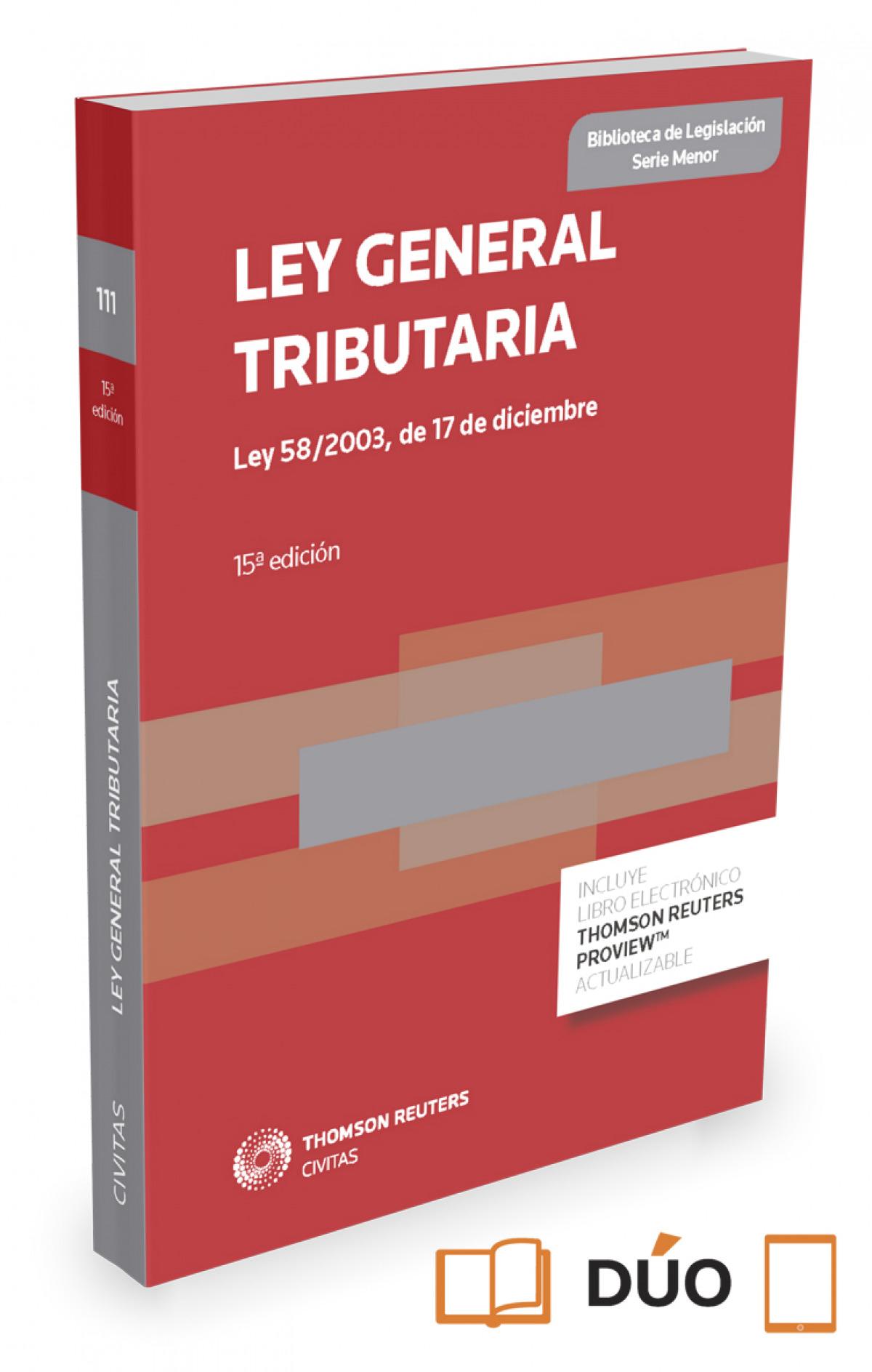 Ley General Tributaria 9788490987209