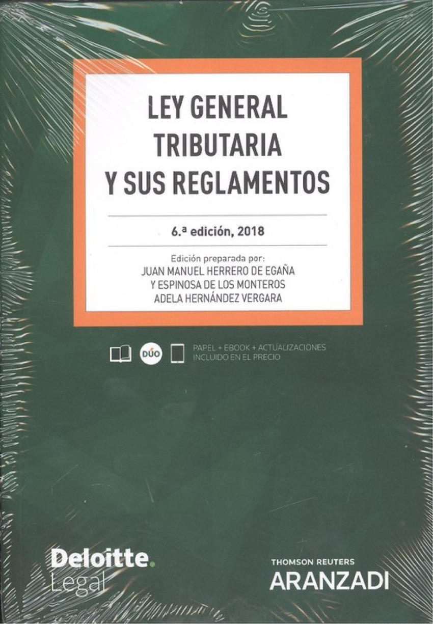 LEY GENERAL TRIBUTARIA Y SUS REGLAMENTOS (DÚO) 9788490991985