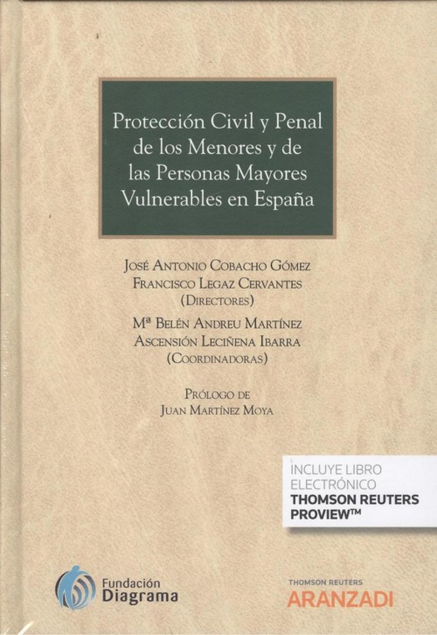 PROTECCIÓN CIVIL Y PENAL DE LOS MENORES Y  DE LAS PERSONAS MAYORES VULNERABLES EN ESPAñ