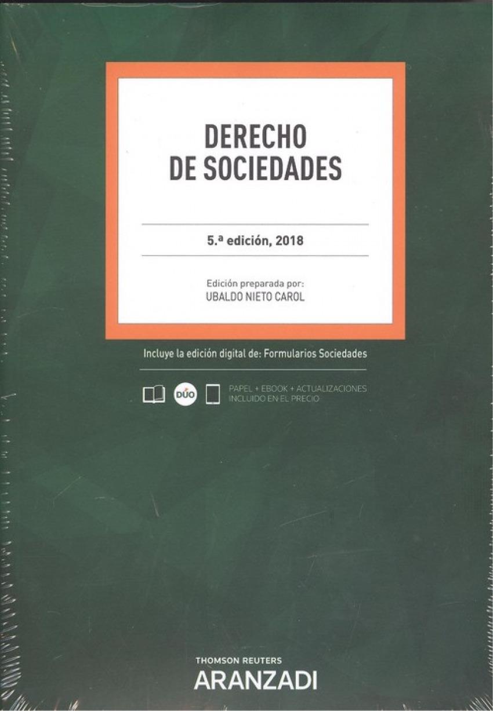 DERECHO DE SOCIEDADES 2018 (DÚO) 9788491970781