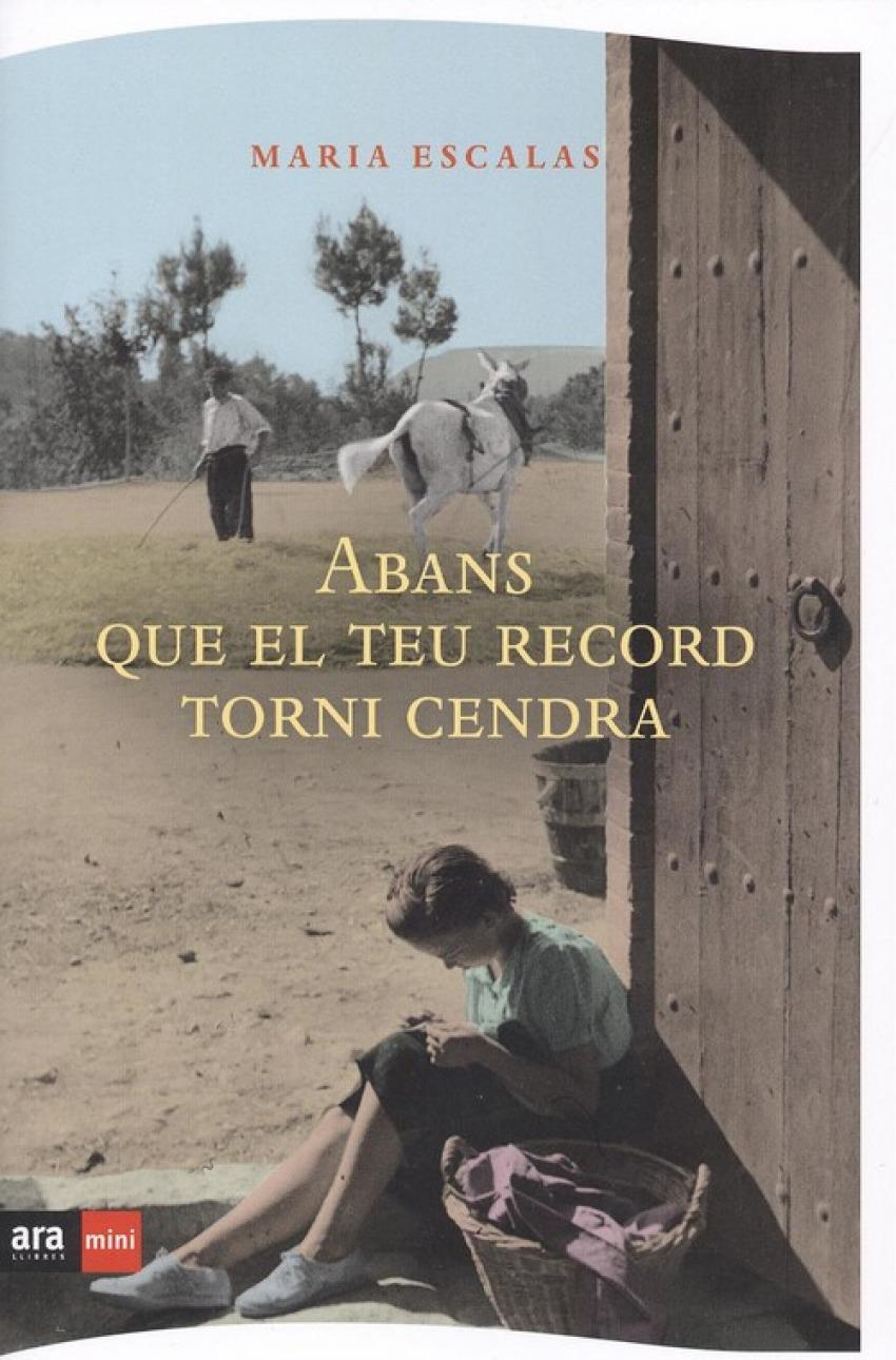ABANS QUE EL TEU RECORD TORNI CENDRA 9788494652394