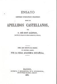 Apellidos castellanos 9788495195678