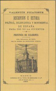 Provincia de salamanca.descripción e historia 9788495195739